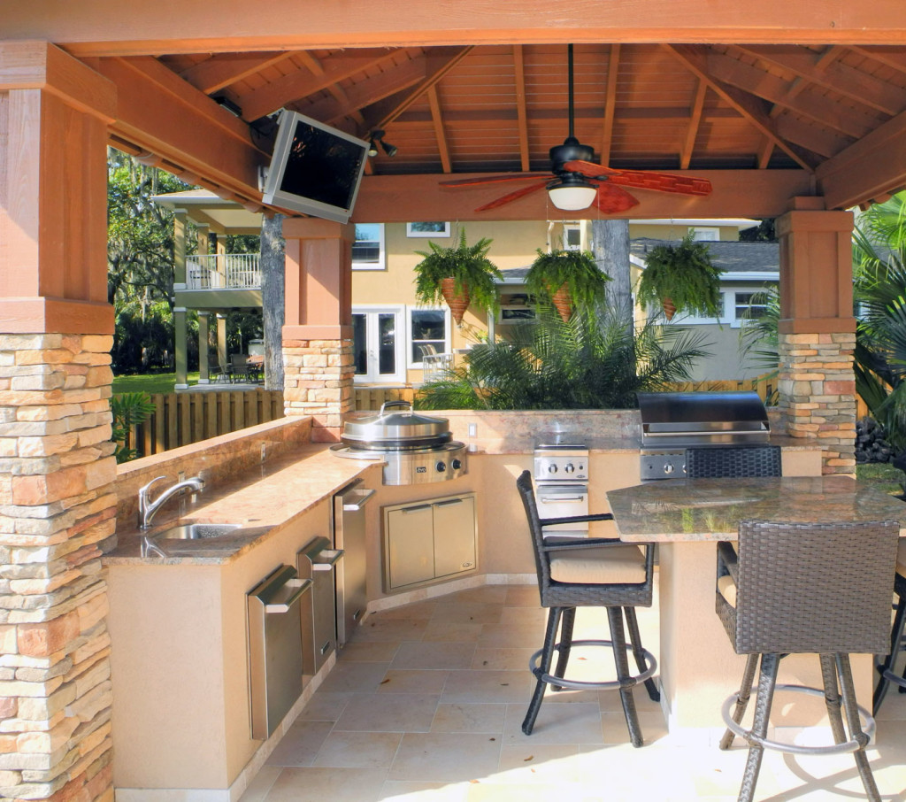 Outdoor Kitchen Wood Countertops: Evo Outdoor Kitchen Gallery