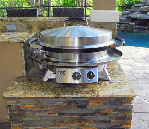 Evo Grill Tabletop 30 Professional Classic Circular Flat Top Grill