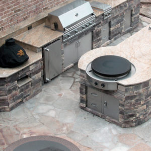 Evo Grill Cooktop Flat Top Grill Outdoor Kitchen