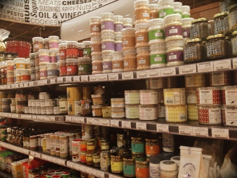 An aisle of artisanal salt