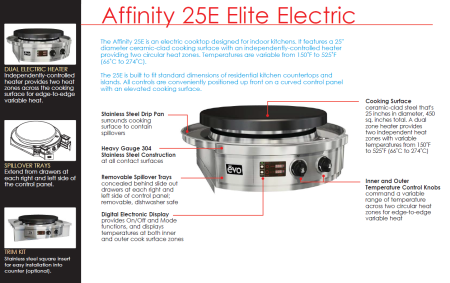 evo affinity elite indoor electric features