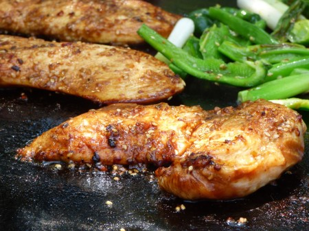 EVO grilled Sesame ginger chicken recipe