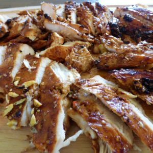 amazing perfect Grilled Sesame Chicken gluten free on the EVO