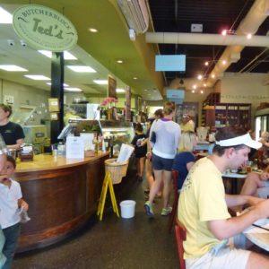 ted's Butcherblock of Charleston offers burgers on saturday