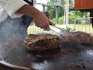Grilled Porterhouse Steaks on the EVO