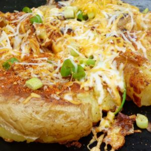 Smashed Mexican Potatoes