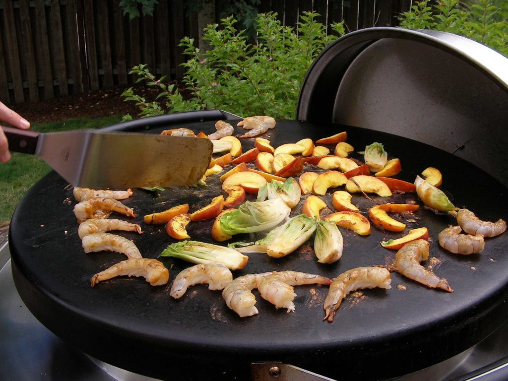 Grilled Shrimp, Endive, and Apples on the EVO
