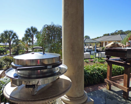 The Kiawah Resort often serves breakfast alfresco from the evo tabletop model.