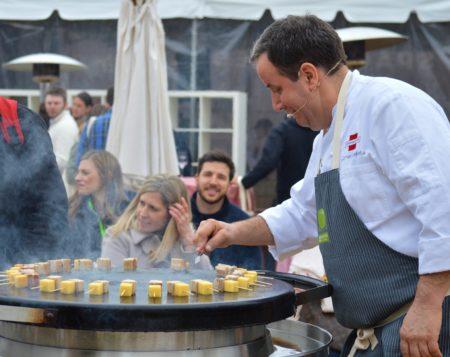chef carmen quagliata of union square cafe ny on evo grill
