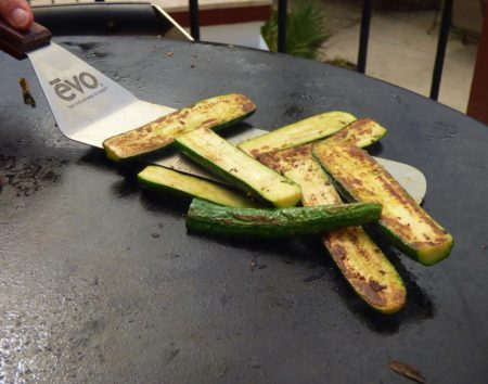vegetables on the evo grill