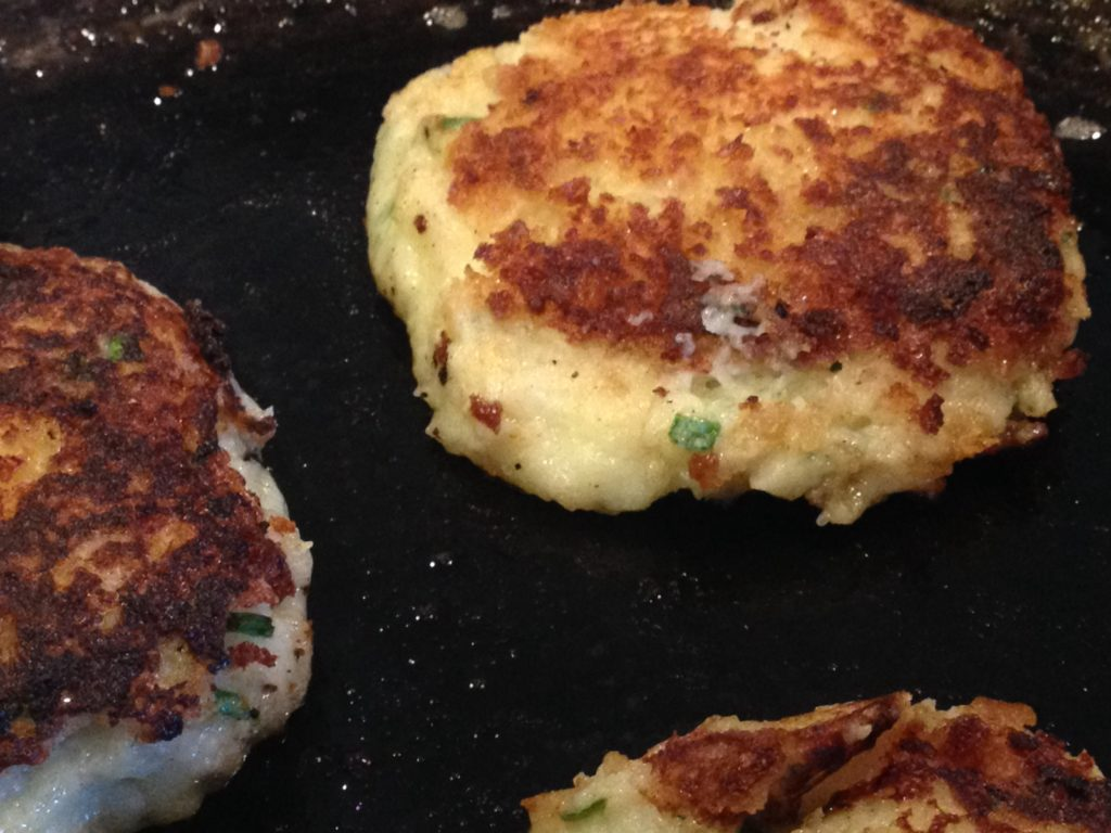 potato pancakes on evo grill