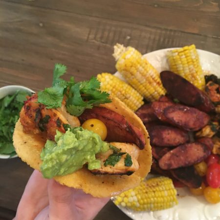 creole-tacos-on-evo-grill
