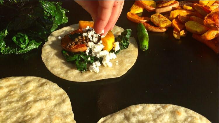 Vegetarian tacos